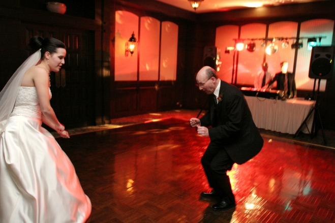 unique MN wedding photography - father of the bride dancing